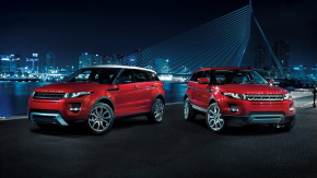 Land Rover Evoque, Две красные Land Rover Evoque, одна с белой крышей